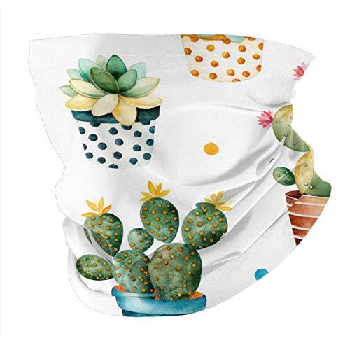 Sciarpa da testa, personalizzata, per attività all'aperto, sciarpa, copricapo sportivo con piante in vaso di carne e cactus