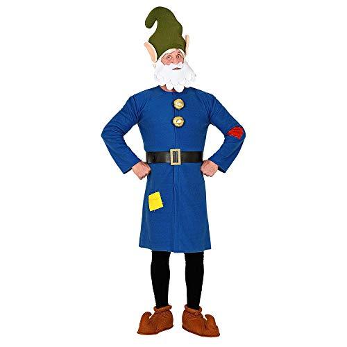 WIDMANN 10624 - Disfraz de enano, parte superior, cinturón, gorro con barba, gnomo, gnomo, cuento de hadas, fiesta temática, carnaval