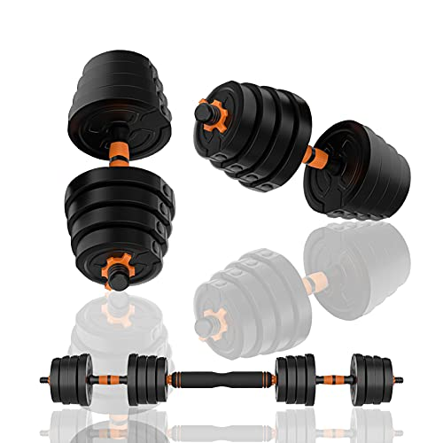 Deliny Dumbbells Adjustable Weight, Weights Set for Home Gym Can Be Used As a Barbell Weight Set 2 of DumbellsWeights for Men 44Lbs /20Kg (Single 10kg)