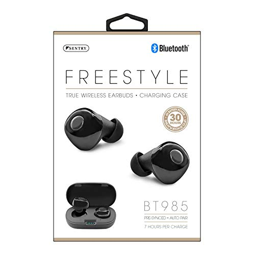 Sentry Freestyle Bluetooth True Wire-Free Earbuds with Charging Case, HPX-BT985