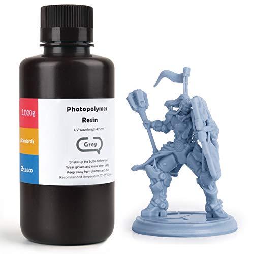 ELEGOO ABS-Like 3D Drucker Resin LCD UV-härtendes Harz 405nm Standard Photopolymerharz für LCD 3D Drucker Grau 1000g