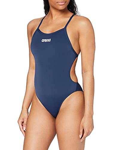arena W Solid Light Tech High One Piece Femme, Navy-White, FR Unique (Taille Fabricant : 42)