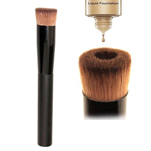 Glamza Brosses de maquillage professionnelles, Liquid Foundation, pour fond de teint, blush, poudre, contour, anti-cerne
