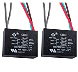 Wadoy CBB61 5 Wire Ceiling Fan Capacitor Compatible with NEW TECH 5+5+5uf 50/60Hz 250VAC (2 pack)