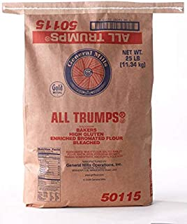 All Trumps Bleached Bromated Enriched Malted High Gluten Flour, 25 Pound -- 1 each.