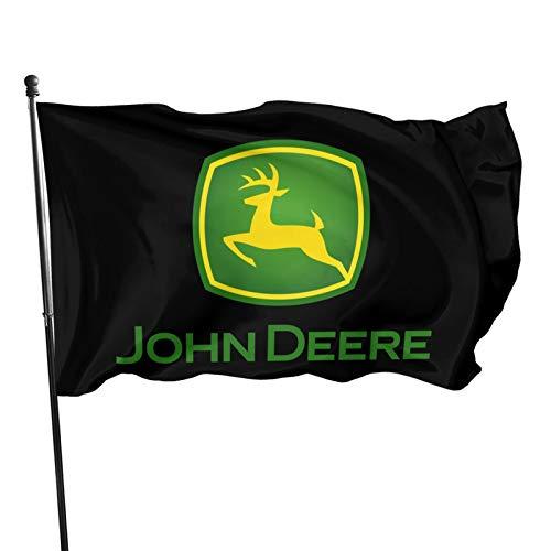 YeeATZ John-Deere Flag 3x5 Ft Fahnen Flagge Flag Banner Polyester Material Gartenbalkon Gartendekoration Im Freien 90x150cm xwxb