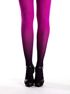 33acdffc3 Black - Magenta Ombre Tights - Magenta Tights - Superb Quality Opaque  Pantyhose - Gift for