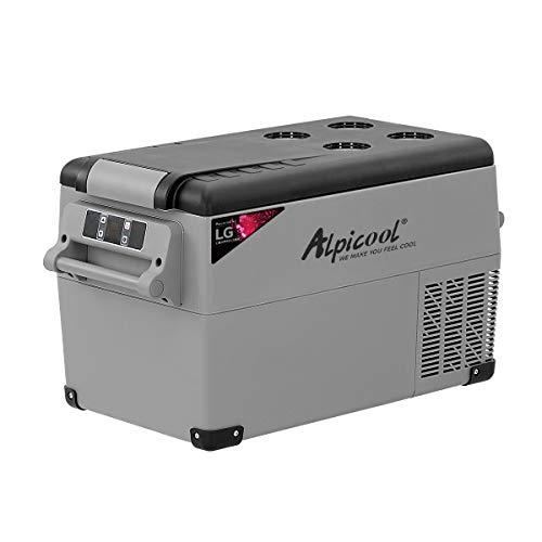Alpicool CF35 Auto-Kühlschrank, 35 l, tragbarer Mini-Gefrierschrank, 12 V, Wohnmobil-Kühlschrank, Boot, DC elektrischer Kühler für Camping, Fahren, Boot, Picknick
