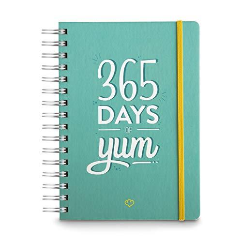 Jahresplaner A5 (14,8 x 21 cm) undatierter Terminplaner, Kalender-Buch, Diätbuch zum Ausfüllen mit 60 Rezepten zum Meal-Planning, 300 Seiten, Ideal als Diät & Fitness Tagebuch