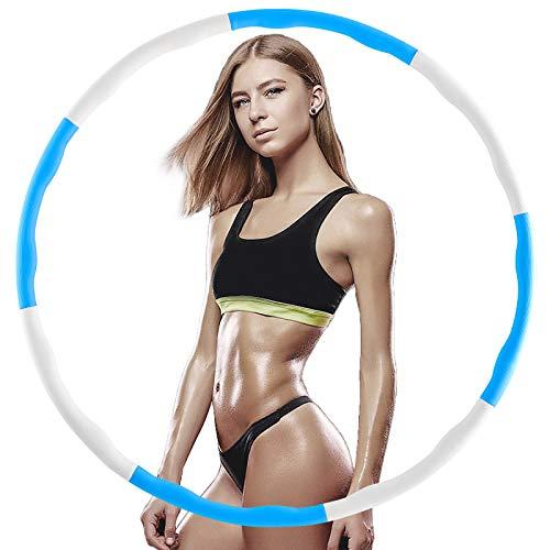 WOHOOH Hula Hoop Reifen Die Zur Gewichtsreduktion und Massage Verwendet Werden KöNnen,EIN 6-8-Teiliger Abnehmbarer Hula-Hoop-Reifen für Fitness/Training/Büro oder Bauchmuskelkonturen (BW)
