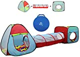 Kiddey Children's Play Tent with Tunnel (3-Piece Set) –...