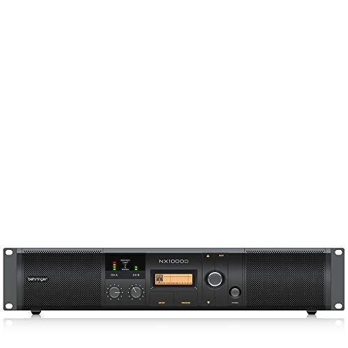 Behringer NX1000D - Amplificador de Audio (500 W, D, 0,1%, 100 dB, 500 W, 300 W)