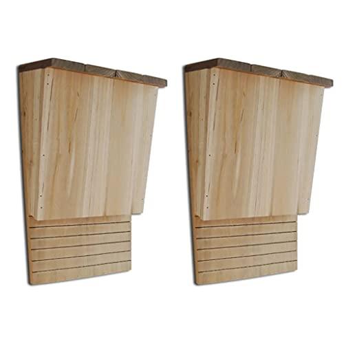 vidaXL Set 2 pz Casetta Bat Box Rifugio Nido per Pipistrelli 22 x 12 x 34 cm
