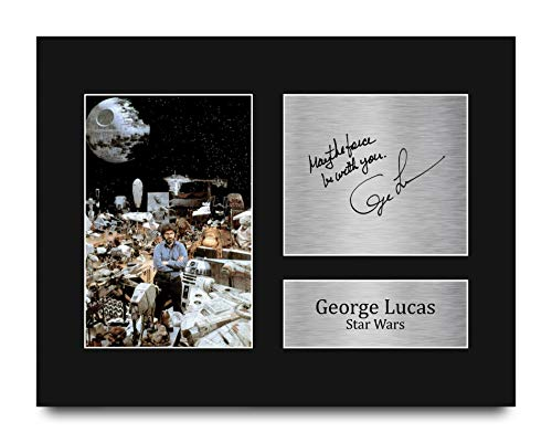 HWC Trading George Lucas Gift Signed US Letter Size Printed Autograph...