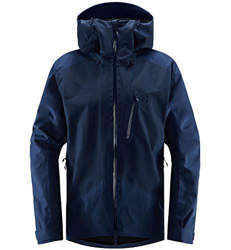 Haglöfs Skijacke Herren Skijacke Niva Wasserdicht, Winddicht, Atmungsaktiv Tarn Blue Solid L L