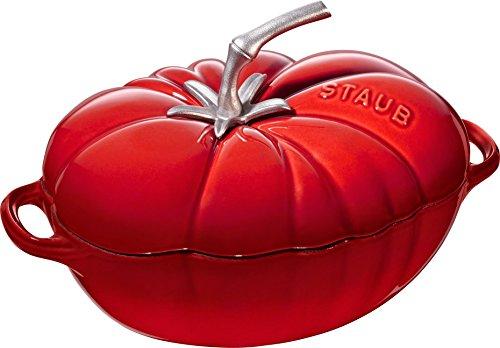 STAUB Cocotte Tomate 25 cm kirschrot Bräter, Gusseisen