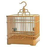 ZYLBDNB Jaulas para pájaros Grandes Jaula de pájaros de Acero de plástico Cuadrada, Duradera y Adecuada para la cría de Aves pequeñas (marrón) jaulas para pájaros jilgueros