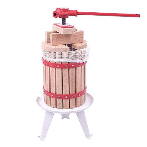 LZQ Obstpresse Presse 6 Liter Saftpresse und Beerenpresse Mechanische Weinpresse Apfelpresse Fruchtpresse mit Presstuch