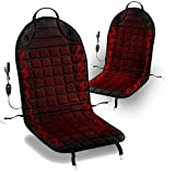 Zone Tech Car Travel Seat Cover Cushion - Premium Quality 2 Pack 12V Automotive Comfortable Cover-Perfect for Cold Weather and Winter Driving