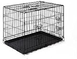 HANU Black 30 inch Cage/Crate/Kennel with Removable Tray for Dogs/Cats 029