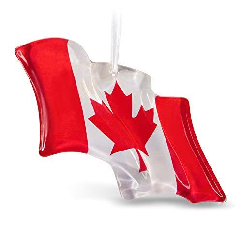 Hallmark Keepsake Christmas Ornament 2019 Canadian Pride Flag Glass Canada