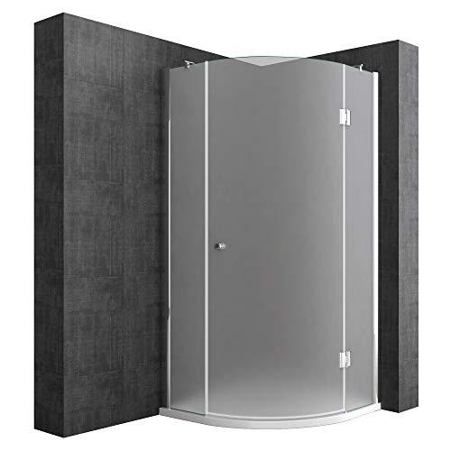 Duschabtrennung Viertelkreis 80 x 80 cm 8mm ESG-Sicherheitsglas, Eck-Dusche mit Lotuseffekt durch Nano-Beschichtung Ravenna06S