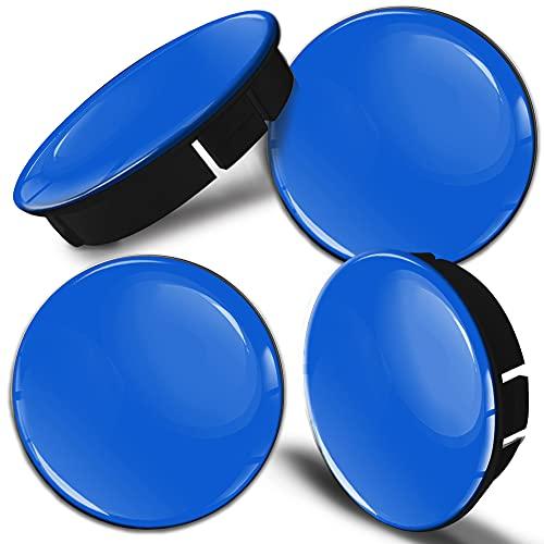 SkinoEu 4 x 60mm Universal Tapas de Rueda de Centro Azul Tapacubos para Llantas Coche C 8