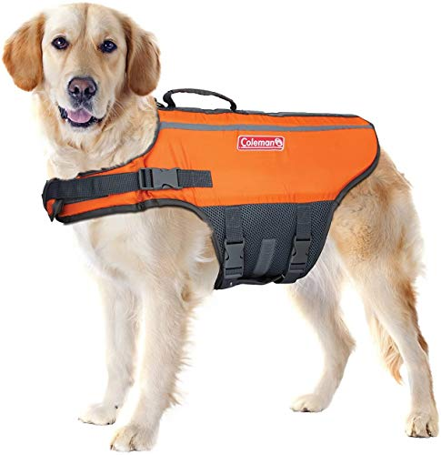 Coleman Pet Flotation Vest for Pool Boat Beach Lake Large (6 x 17.5 x 5 in)