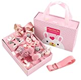 Ziory Girls's Hair Accessories (Pink) Box-24 pieces