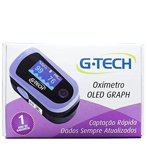 Oxímetro Digital OLED G-Tech Com Estojo Cordão e Capa De Silicone