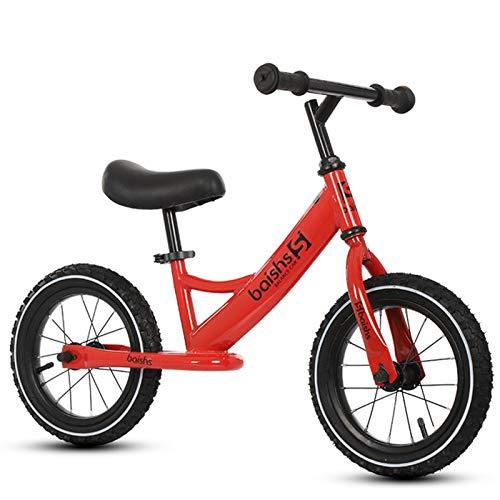 BSWL Bicicleta De Equilibrio para Niños De 12 Pulgadas, Adecuada para Niños De 2 A 6 Años, Bicicleta Deslizante De Moda Sin Pedales, Bicicleta De Equilibrio para Niños,Rojo