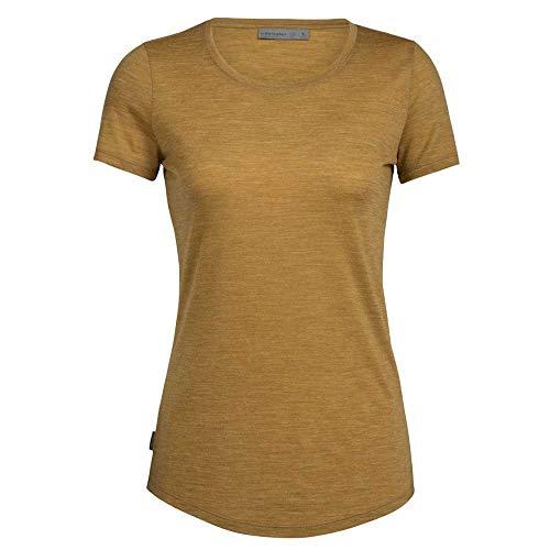 icebreaker WMNS Sphere Ss Low Crewe T-Shirt für Damen, Damen, Unterhemd, 104680705XS, Curryfarben, XS