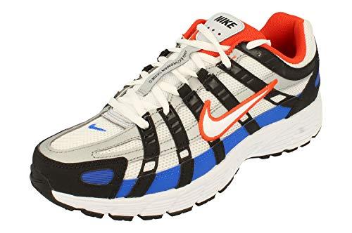 Nike P-6000, Zapatilla de Correr Hombre, Negro/Blanco/Equipo Naranja/Racer Azul, 41 EU