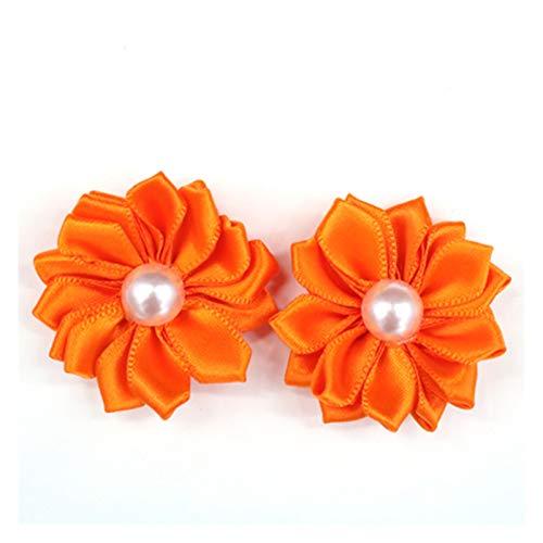 GYLB WBCMWH - Lazos de goma brillantes para el pelo para mascotas, cachorro, perro, gato, lazos, accesorios para el cabello para mascotas (color naranja)