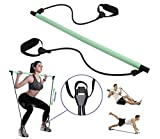 Maniferse Stretching Stick Adjustable-Resistance Bands with Foot Loops. Home Fitness Pilates Bar...