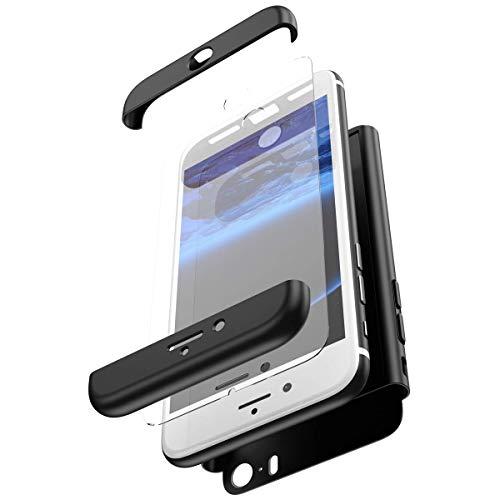 Robinsoni Funda Compatible con iPhone 5S / SE Funda de PC híbrida...