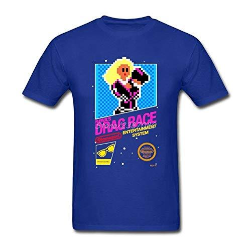 Hombres Rupaul Drag Race Camiseta de Cuello Redondo y Manga Corta Manga Corta