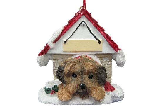 Yorkipoo Dog Doghouse 'Personalized' Christmas Ornament