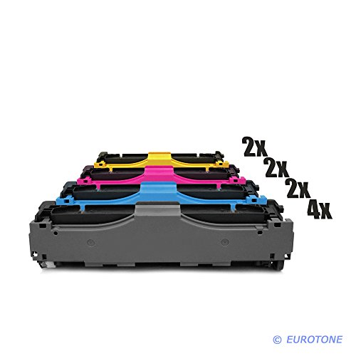 AFD-Toner für Color Laserjet Pro 300 Serie M 351 A , nw , Pro 400 Color M 451 dn , dw , nw , Pro 400 M 475 dn , dw Patronen ersetzen HP 305A 4x CE410A, 2x CE411A, 2x CE412A, 2x CE413A Patronen im Bundle Original EUROTONE ( ISO-Norm 19798 )