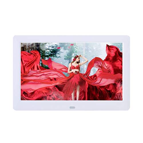 8,2-Zoll-Bilderrahmen für Digitale Fotos 1280 x 800 IPS-Display Foto- / Musik- / Videoplayer-Kalender, Uhr mit Fernbedienung, Unterstützung für USB-Laufwerk und SD-Karte Elektronischer Bilderrahmen