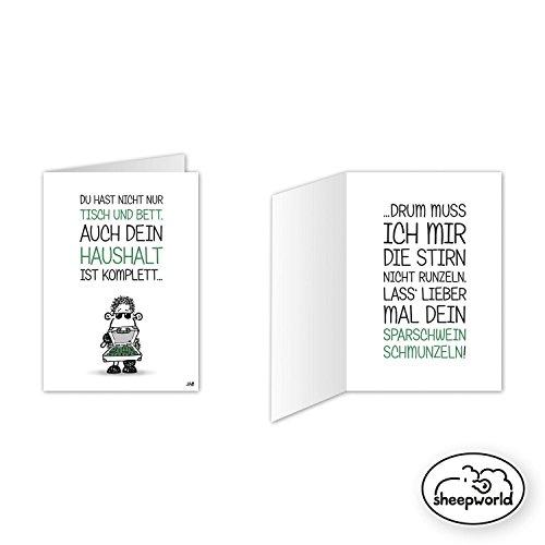 Sheepworld - Mini-Klappkarte, Geburtstagskarte Nr. 22