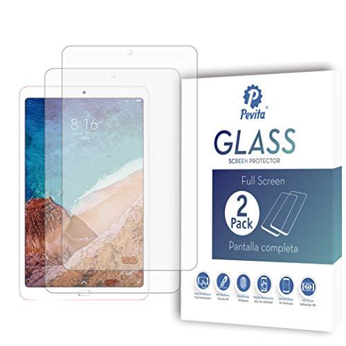 Pevita Pellicola Protettiva Xiaomi Mi Pad 4 Plus 10.1'' [2 Pack] Vetro Temperato per Xiaomi Mi Pad 4 Plus Durezza 9H, senza bolle, facile installazione.