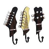 FeelMeet Gancho de Resina Guitar Pared Holder 3 Piezas Novedad suspensión de la Pared tecla Colgado la decoración del hogar diseño de la Guitarra Wall