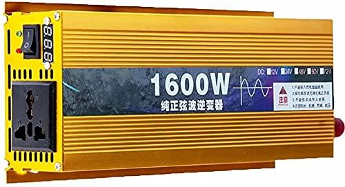 wsbdking Conversione per Auto in Puro sinusoidale 12 V 24V 48 V 60 V 72V a 220 V 2600 V 2600 W 2600W 2600W 3000W 3500W Adatto per TV, Computer, PORTATO proiettore, ECC. (Color : 2200w, Size : 48)