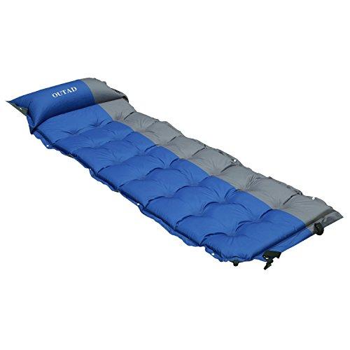 OUTAD automatisch aufblasbaren Matratze wasserdichte Luftbett mit Kostenlosen Kissen (Matratze) (Matratze)