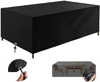 Fundas Muebles Jardín, Impermeable Cubierta de Exterior Funda Patio Protectora Muebles 210D Oxford Resistente al Polvo Anti-UV para Sofa de Jardin, al Aire Libre, Mesa y Sillas (200x160x70cm)