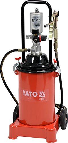 YATO Profi pneumatische Fettpresse fahrbar 12 Liter Druckluft Fettpresse Abschmierpresse
