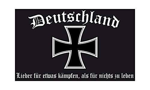 DH 51 - Deutschland Flagge - Lieber für etwas kämpfen Fahne 90 x 150cm