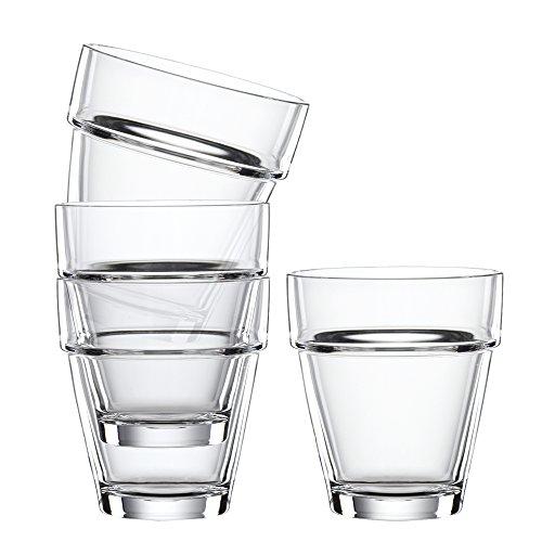 Spiegelau & Nachtmann, 4-teiliges (M) Tumbler-Set , Kristallglas, 200 ml, Bistro, 2670149