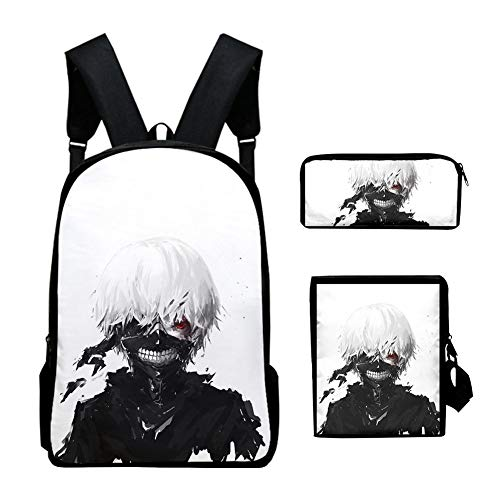 Ylight Anime Tokyo Ghoul Backpack Kim Mok-Yeon Print Kids Bag Teenager Boys Girls School Bags Children Rucksack Book Bag Sets,A